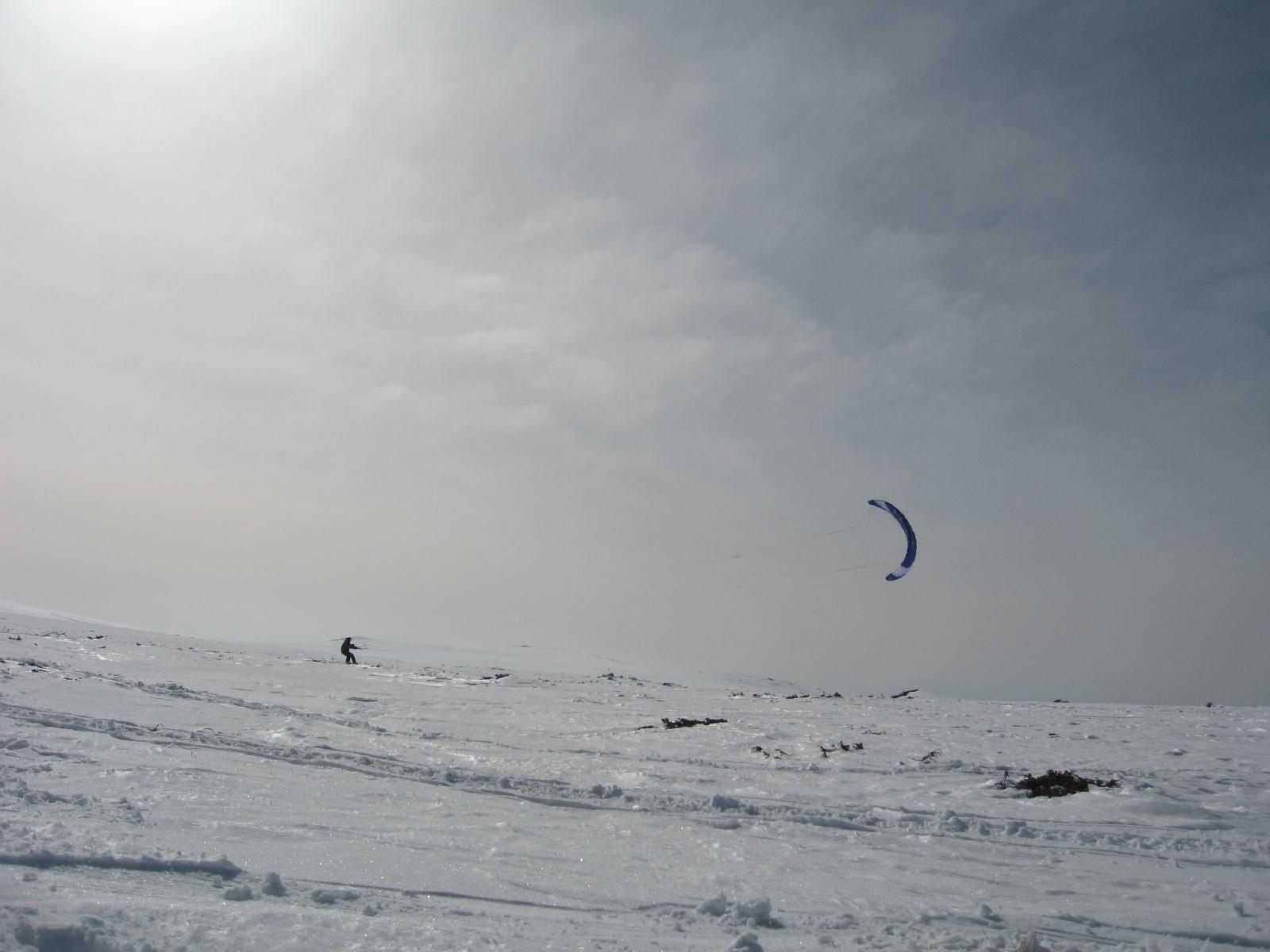 Сноу кайт на платото 2011